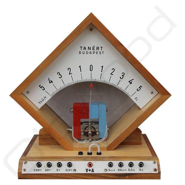 Vintage volt/ampere meter, merk Tanert (circa 1968)