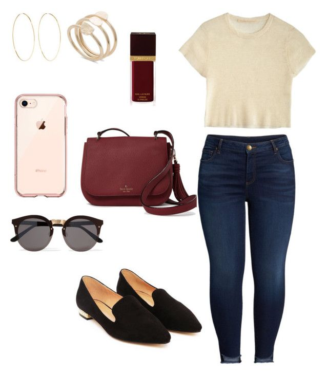 """Casual: Mod red"" by lauhg on Polyvore featuring moda, Creatures of Comfort, Kate Spade, KUT from the Kloth, Nasty Gal, Tom Ford, Illesteva y Magda Butrym"