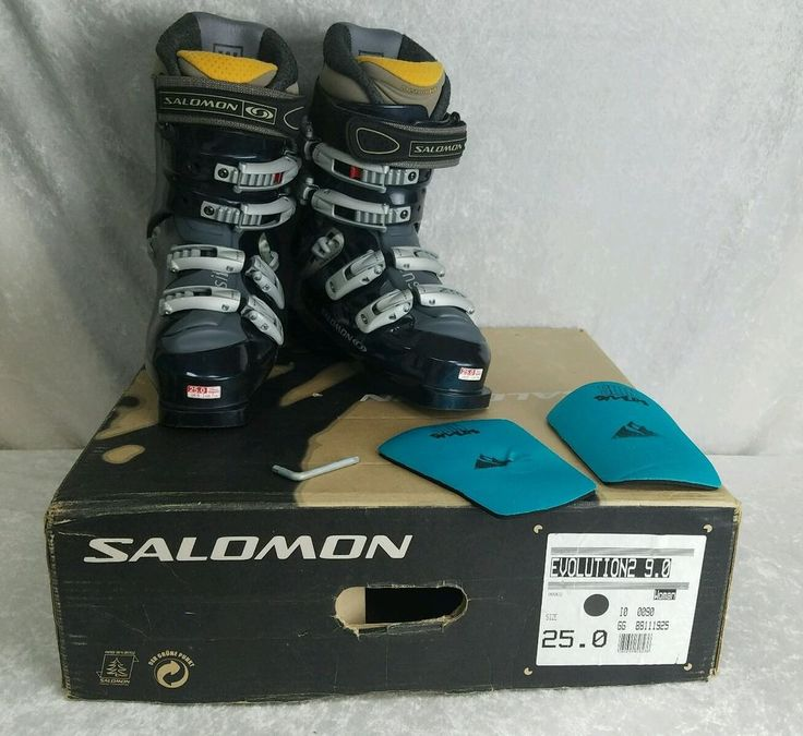 These Salomon Ski Boots Evolution2 9.0 Edition are Women's Size 25.0. They are pre-owned but are in good condition. They are Model GG 88111925. The other number listed on the front of the box is I0 0090. | eBay!