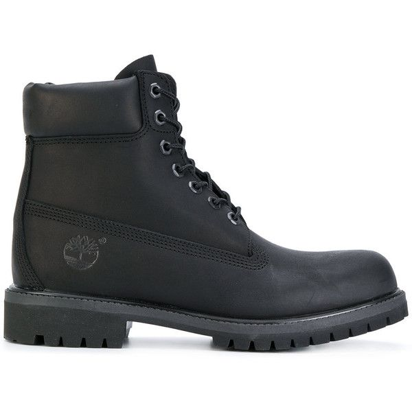 Timberland classic iconic boots ($251) ❤ liked on Polyvore featuring men's fashion, men's shoes, men's boots, black, mens leather shoes, mens black leather shoes, mens black shoes, timberland mens shoes and mens black leather boots