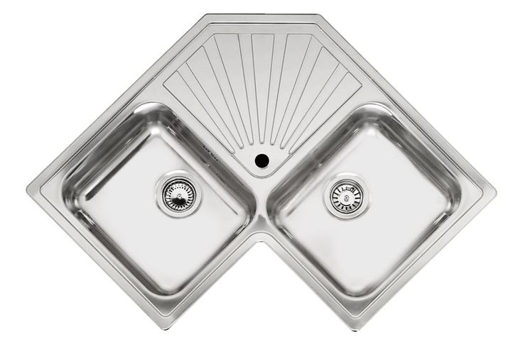 Reginox Montreal Double Bowl Corner Kitchen Sink Corner