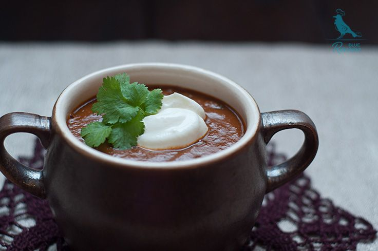 Hellish tomato soup with dark chocolate | Cook with Blue Raven
