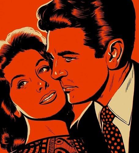 'Orange you happy we're together?!' ~ Vintage pop art romance.