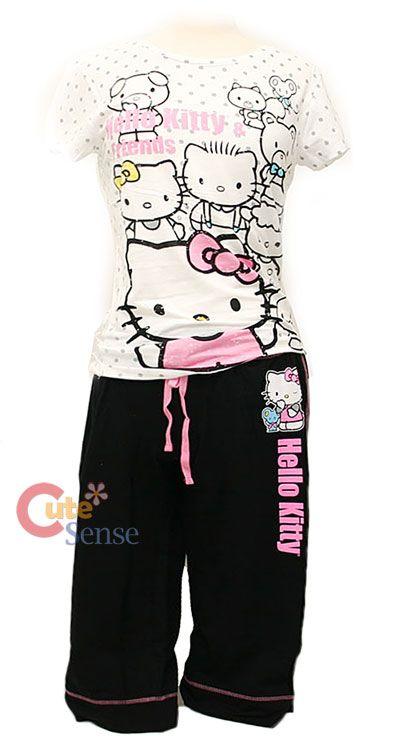 Sanrio Hello kitty Women PJ Sleepwear Set- Kittys Friends #kitty #hello kitty #adult hello kitty