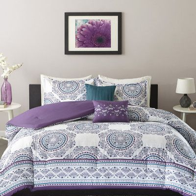 Intelligent Design Anika Comforter Set Size: Full/Queen, Color: Purple