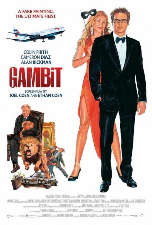 Gambit  (a remake of the 1966 film with Colin Firth taking the role formerly played by Michael Caine) - http://www.movieinsider.com/posters/111173/