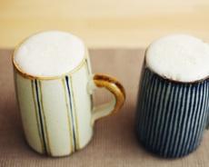 Japanese beer mug 藍窯(三重県) ビアジョッキ