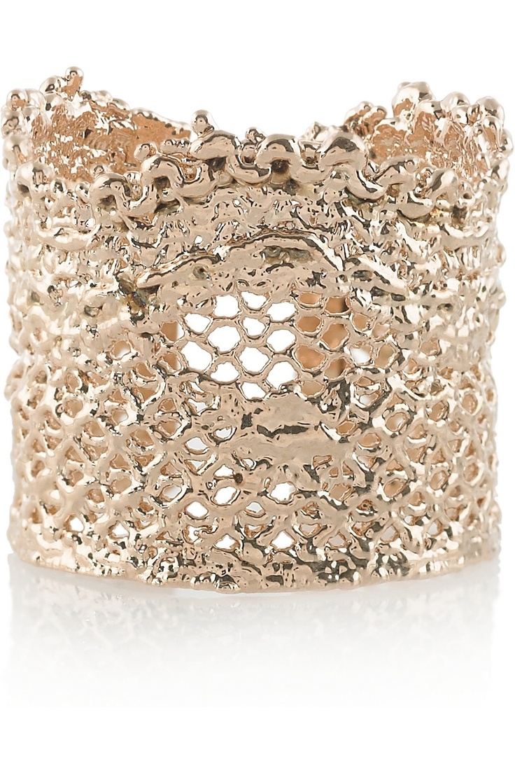 66 Best All That Glitters Could Be Gold Images On Pinterest Cocoa Jewelry Rules Of Love Bracelet Emas This Aurelie Bidermann Lace Dipped Ring Is A Perfect Gift For Your Valentine