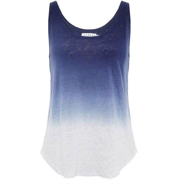 Velvet Ombre Linen Vest Top found on Polyvore
