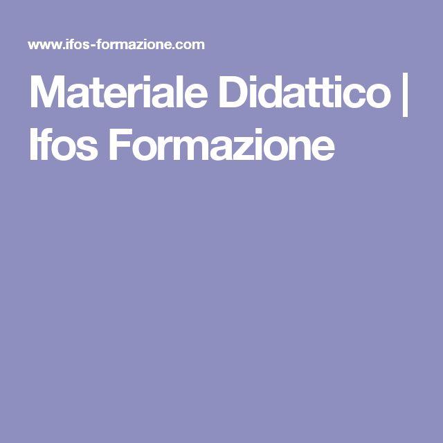 Materiale Didattico   Ifos Formazione