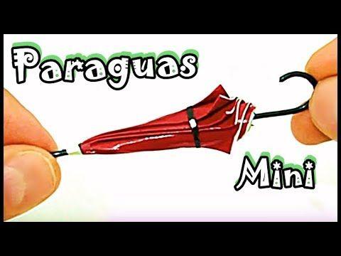 Diy Cómo Hacer Miniatura de Paraguas Para Barbie Y Otras Muñecas l Manualidades Con Papel House Toy - YouTube