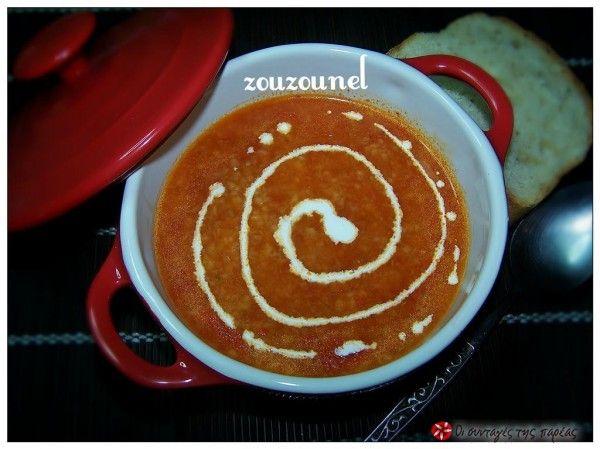 Trahanas soup with tomato #cooklikegreeks #trahanas #soup