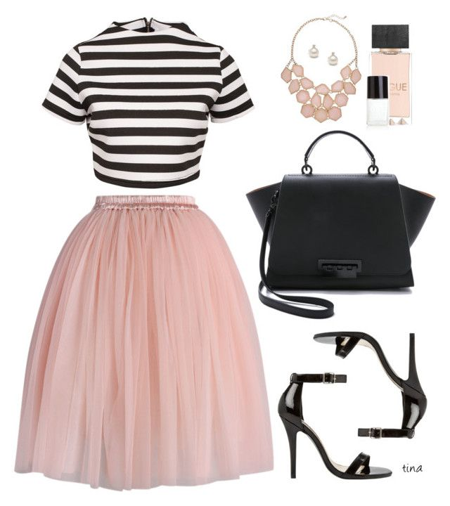 """Pink Tulle Skirt"" by matulik77 ❤ liked on Polyvore featuring Chicwish, Glamorous, Steve Madden, ZAC Zac Posen and Crabtree & Evelyn"
