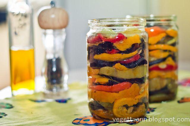 Рецепты вегетарианские. Пошаговые рецепты с фото.: Заготовки на зиму. Овощи гриль в оливковом масле