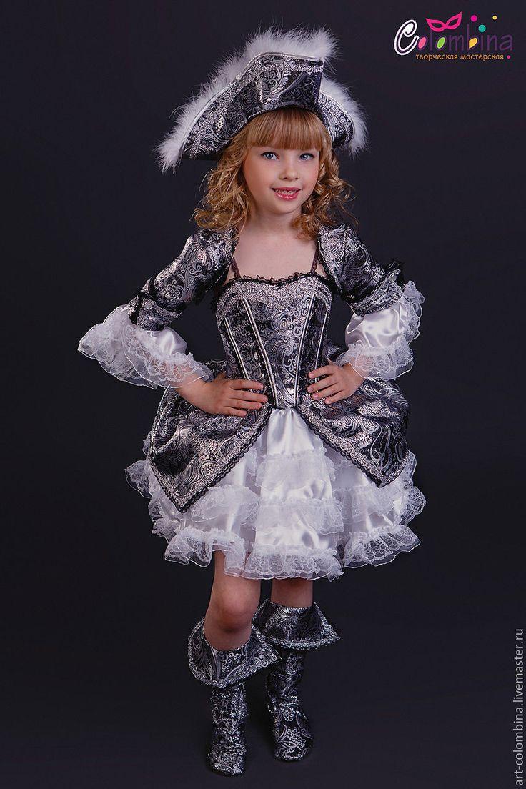 Купить костюм пиратки - серебряный, пиратка, костюм пиратки, костюм пиратки купить, парча, атлас