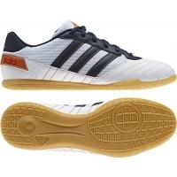 Nuevo modelo de las zapatillas de futbol sala  adidas Super Sala Blanca-Marino que ofrece un diseño ultraligero y confortable para los jugadores que buscan en unas zapatillas comodas y ligeras. http://www.deportesmena.com/botas-futbol-sala-adidas/2811-zapatillas-super-sala-blanca-marino.html