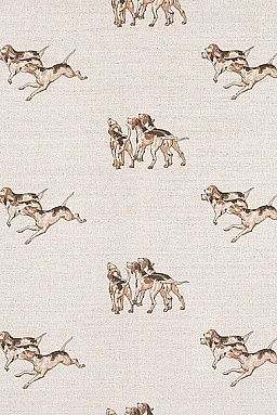 Hounds Fabric Emily bond.  Boys bedroom curtains