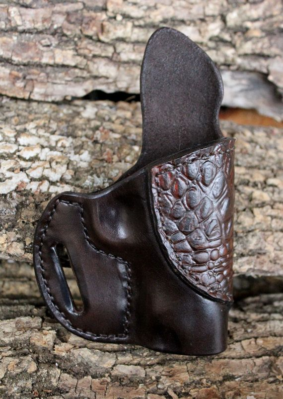 Askins Style Custom Holster for 1911 Officers by TinBadgeLeather, $74.95