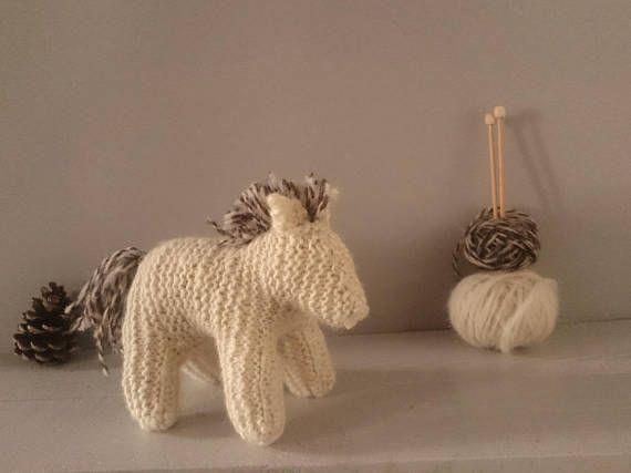 British Hand spun wool New forest pony knitting kit  waldorf