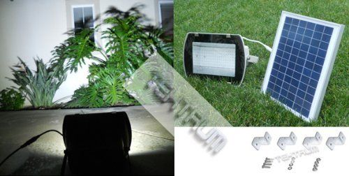 TEKTRUM 108 LED SOLAR POWERED WALL GROUND MOUNT SUPER BRIGHT FLOOD LIGHT FOR SIGN/BILLBOARD/WALKWAY/BACKYARDS/SHED by tektrum. $135.95. This item includes a case of one (1) 108 white LED solar powered wall ground mount super bright flood light. Product Description: The 108 white LED solar powered flood light system provides super bright night-time lighting for camp, RV, boat, entrances, backyards, landscapes, patios, walkways, garages, parking lots, signs, billboards, s...