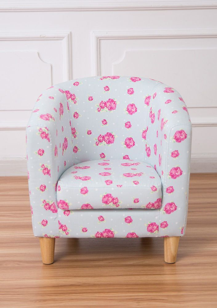 This delightful mini tub chair for children makes a perfect reading seat for a kids bedroom, nursery or playroom. The contemporary blue floral pattern would brighten up any room. Children's Blue Floral Chair. | eBay!
