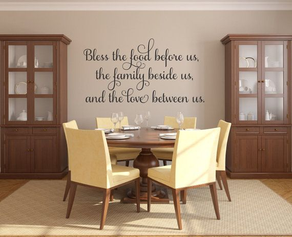 Bless The Food Before Us Decal Kitchen Wall Prayer Vinyl Dining Room Decor
