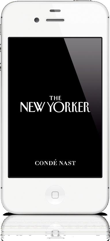 The New Yorker Magazine w specjalnej wersji przygotowanej dla iPhone'a. Wydawca, Condé Nast Digital, udostępnił czytelnikom miesięczną i roczną prenumeratę. Wydanie zostało przygotowane w narzędziach Adobe Digital Publishing Suite.