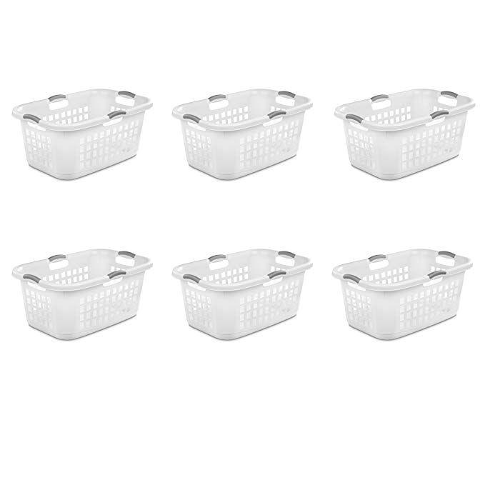 Sterilite 12168006 2 Bushel 71l Ultra Laundry Basket White W Titanium Handles 6 Pack Review Laundry Basket