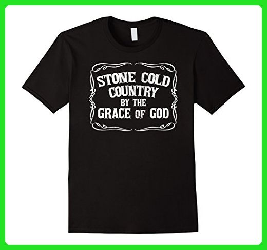 Mens Stone Cold Country By The Grace Of God T-Shirt Small Black - Cities countries flags shirts (*Amazon Partner-Link)