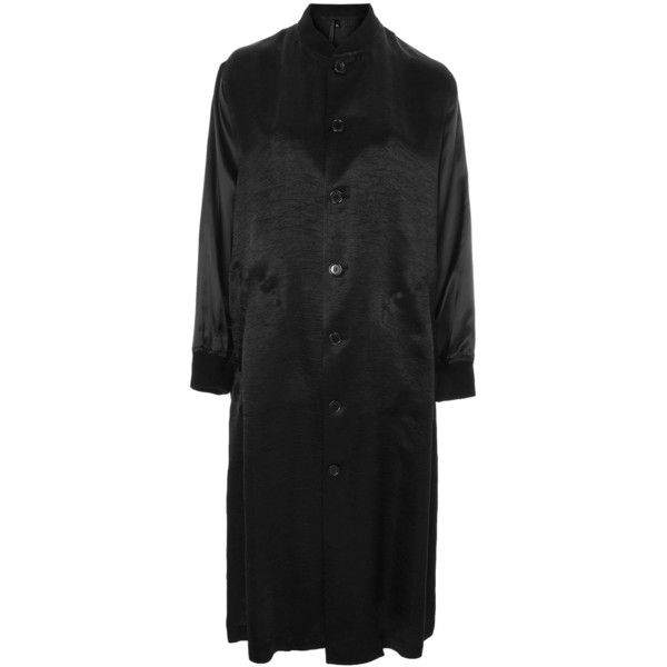 Satin Duster Coat by Boutique (1 720 SEK) ❤ liked on Polyvore featuring outerwear, coats, black, satin duster coat, satin coat, topshop coats and duster coat