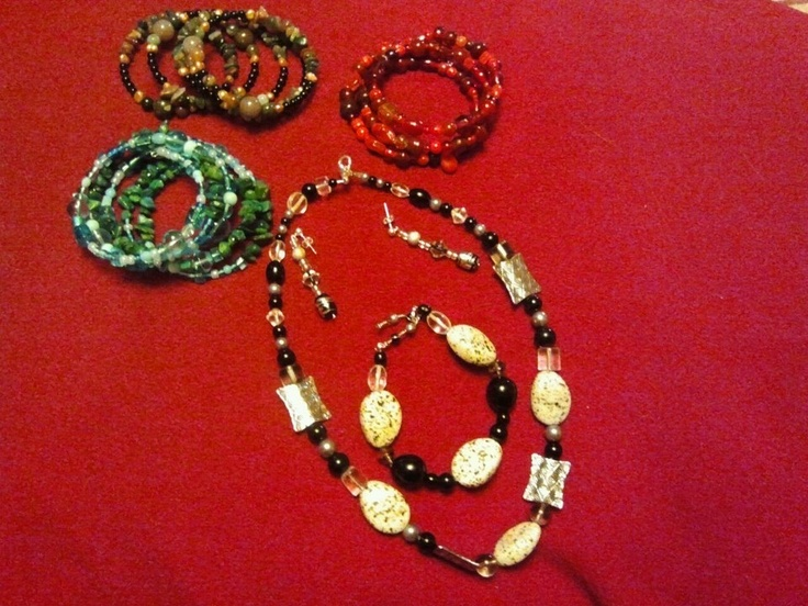 memory wire bracelets, and a set of my idea's
