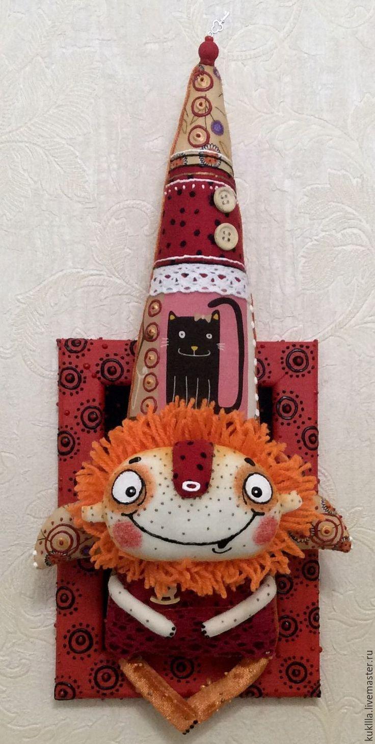 Купить Солнечный домовенок. - ярко-красный, домовой, оберег, оберег для семьи, авторская игрушка, дом