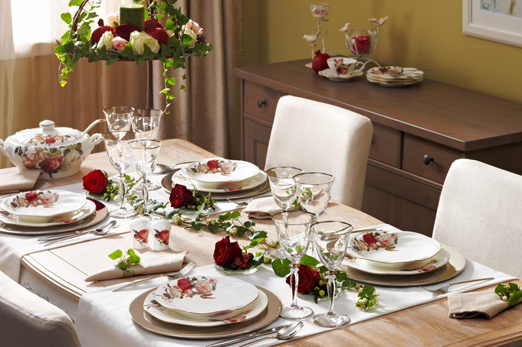 Rose Garden Yemek Takımı / Dinnerware Set #bernardo #kitchen #mutfak #tabledesign