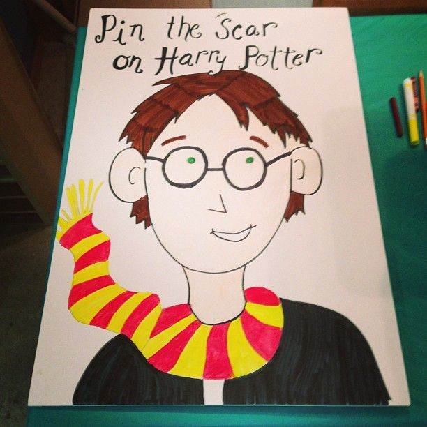 Harry Potter Theme Party - Pin the Scar on Harry Potter