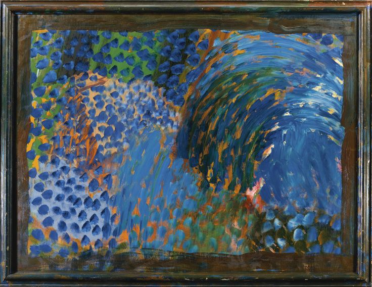 Howard Hodgkin B. 1932 CHEZ STAMOS signed three times, titled and dated 1998 four times on the reverse, oil on wood 198.1 by 260.4cm