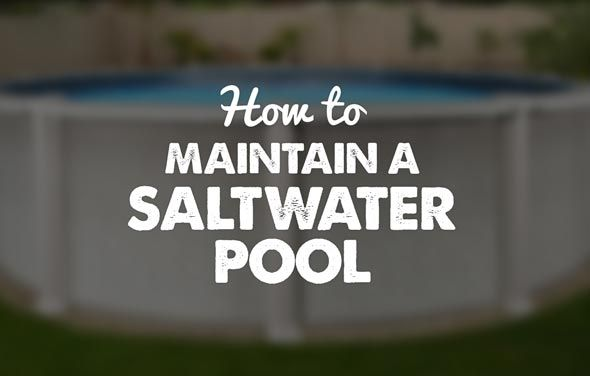 Learn all you need to know about how to maintain a saltwater above ground pool in this article written by our saltwater pool experts. Maintenance made easy!