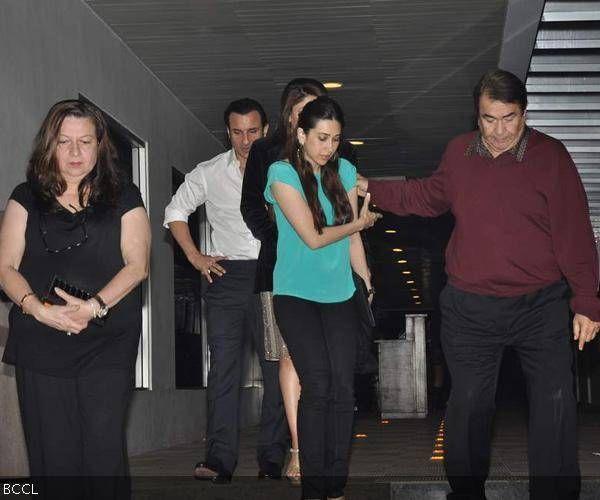 Randhir Kapoor's b'day party
