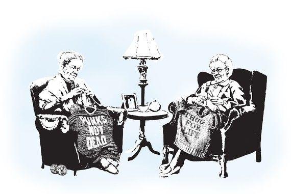 Back+in+the+Day+Wild+Grannies++Banksy+U.K.+by+HotMonkeyGraphics,+$18.00
