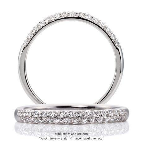 ジュエリークラフトYAMAJI:DRAGEE/ドラジェ パヴェセッティング マリッジリング パヴェの結婚指輪・マリッジリングの一覧❤