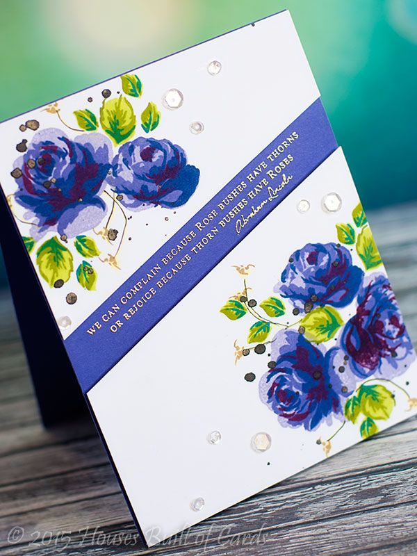 Altenew: Vintage Roses, platinum embossing, try sweet life, Houses Built of Cards: