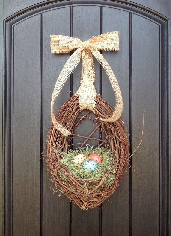 Easter Wreath Spring Wreath Country by AnExtraordinaryGift on Etsy