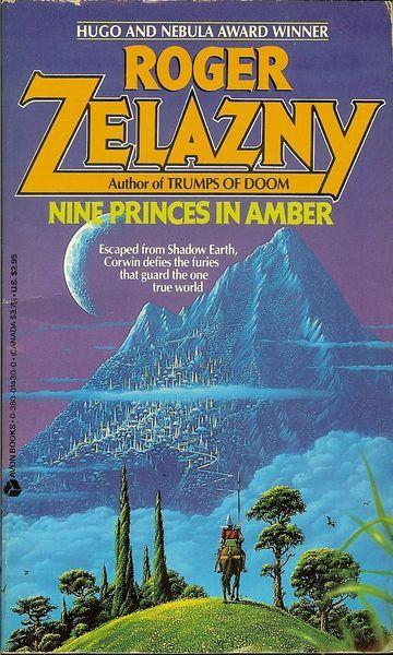 TIM WHITE - Nine Princes in Amber by Roger Zelazny - 1986 Avon Books
