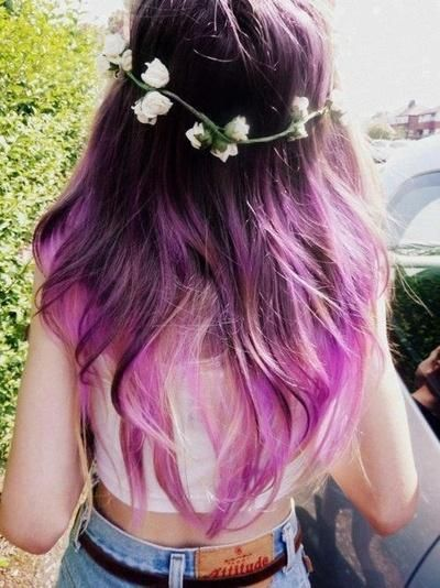 summer paradise, purple ombre | Hairstyles and Beauty Tips