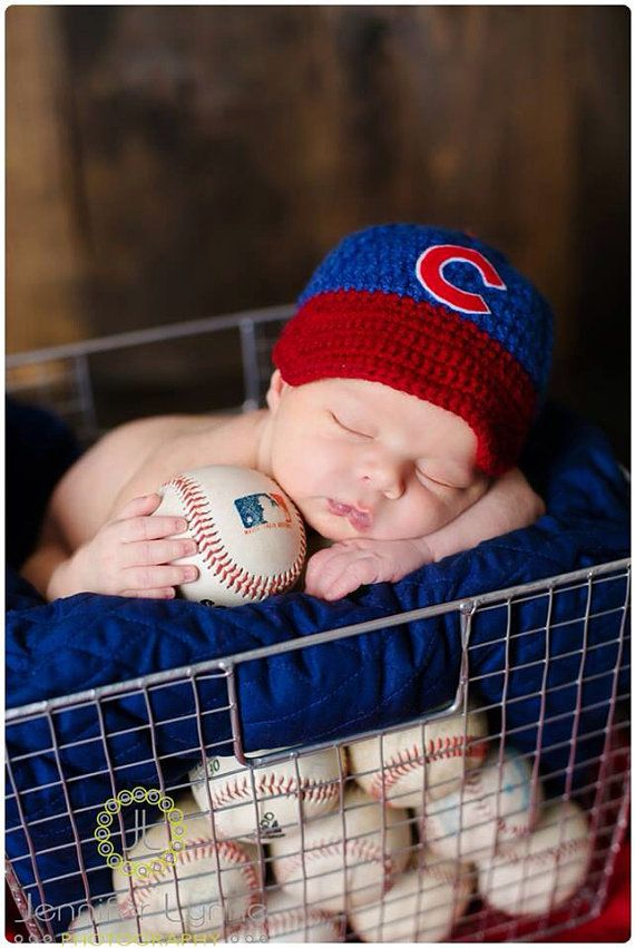 Oh my goodness! how cute! You can get the Baby Baseball Cap Diaper Cover Pants Chicago Cubs by chhunneangs, $29.00: