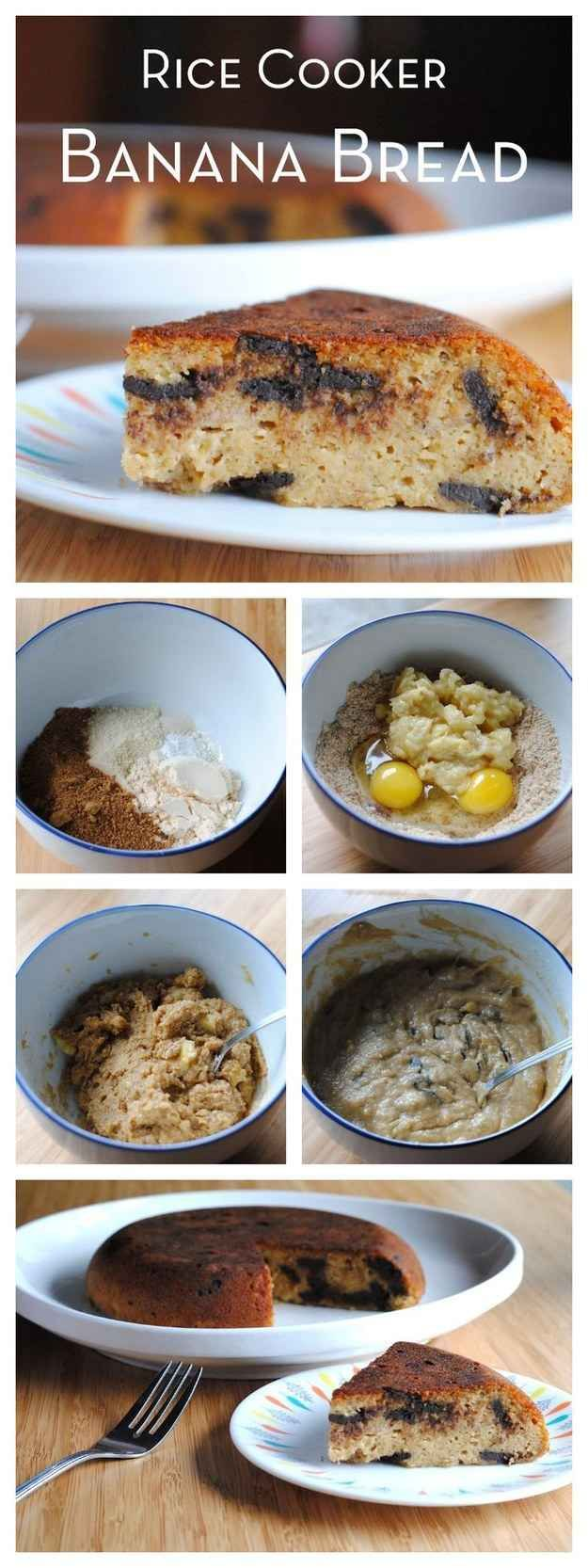 how to cook banana cake in rice cooker