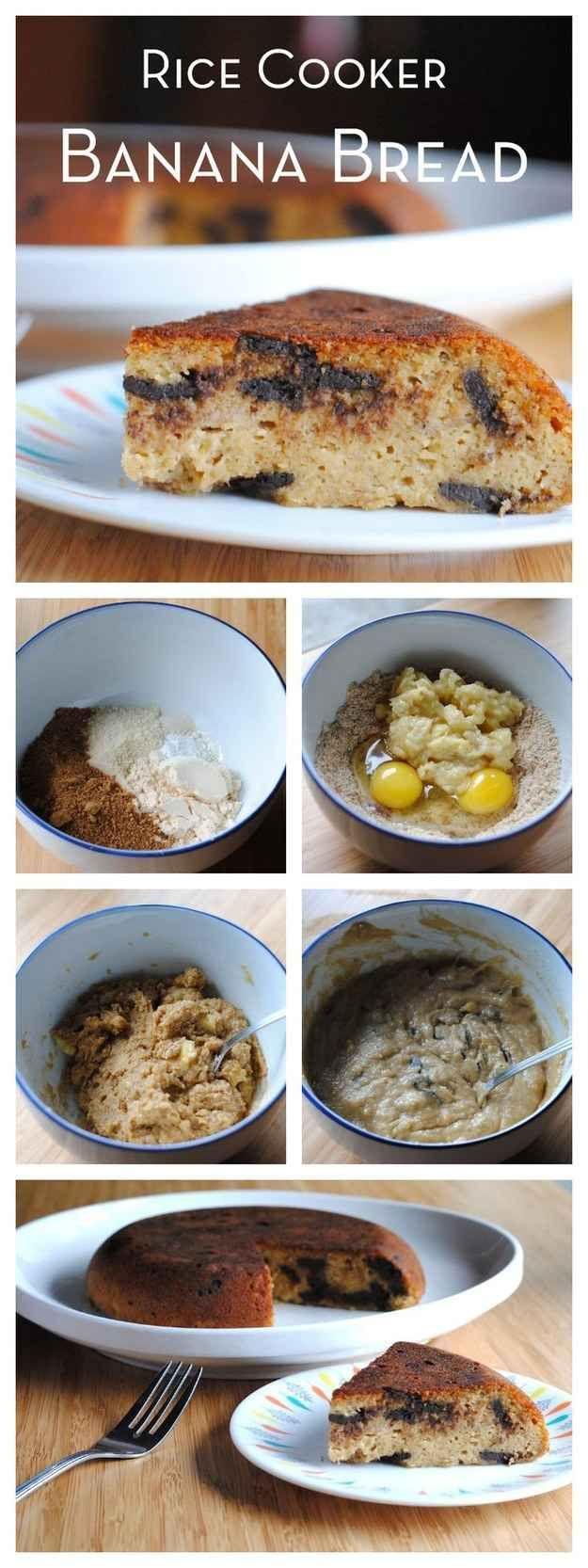 Rice Cooker Banana Bread