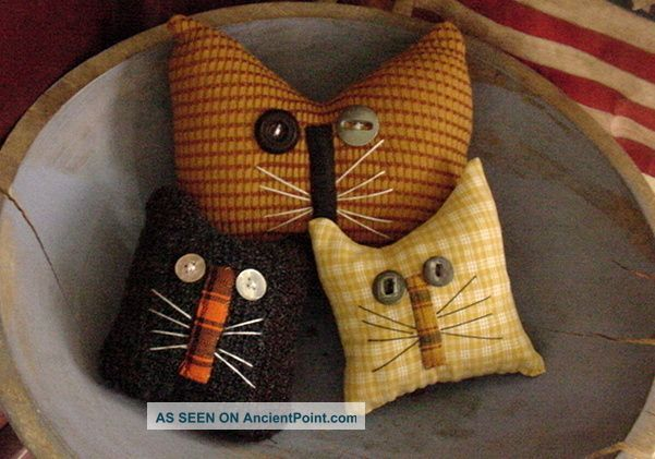 Primitive Bowl Fillers | Primitive Kitty Cat Bowl Fillers Drawer Dwellers Ornies Autumn ...