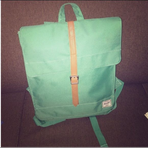 Green Herschel Bookbag In great shape!  Don't annoy me asking for trades- I won't respond. Herschel Supply Company Bags Backpacks