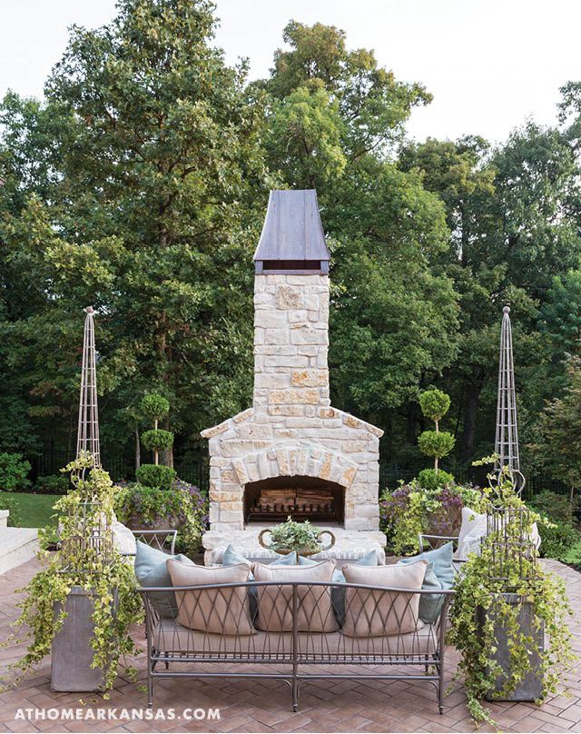 Fireplace Design outside wood burning fireplace : 290 best Outdoor Living images on Pinterest