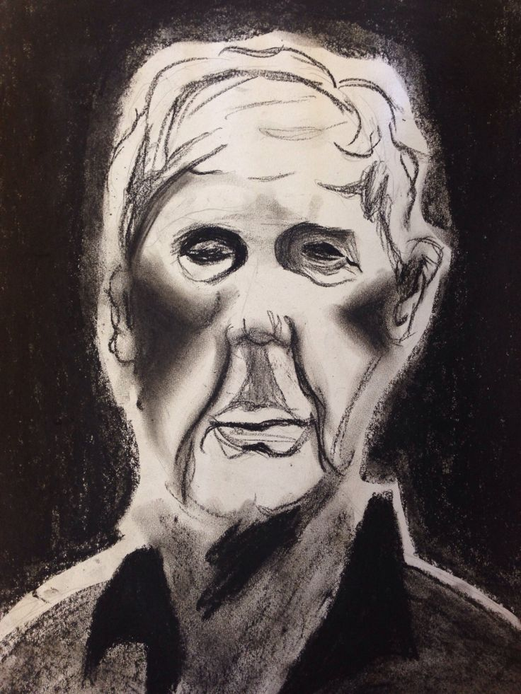 "Charcoal ""faces I have met"""